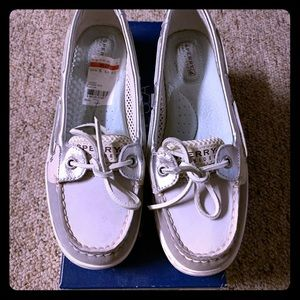 Sperrys - Size 7 Angelfish Grey Open Mesh